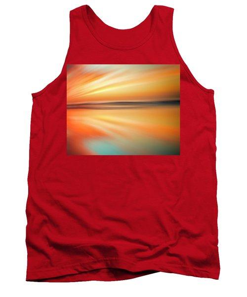Ocean Beach Sunset Abstract Tank Top
