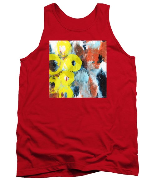 October- Abstract Art By Linda Woods Tank Top