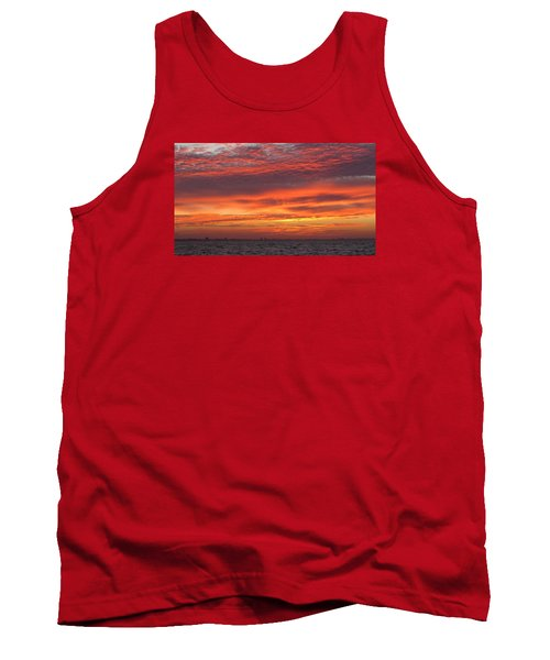 Tank Top featuring the photograph October's Sunrise On Sanibel Island by Melinda Saminski