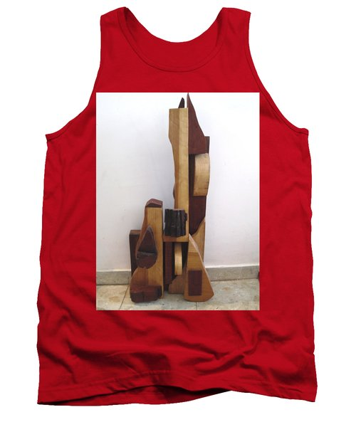 Tank Top featuring the sculpture Ode To A Guitar by Esther Newman-Cohen