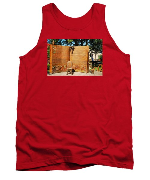 Oh The Places Youll Go Dr Seuss Memorial Garden Tank Top by James Kirkikis