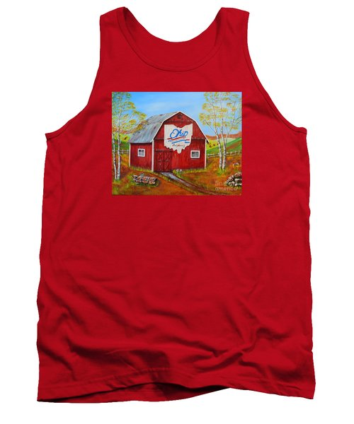 Ohio Bicentennial Barns 2 Tank Top by Melvin Turner