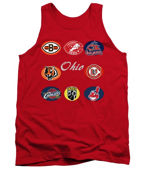 Ohio Professional Sport Teams Collage Tank Top by Movie Poster Prints