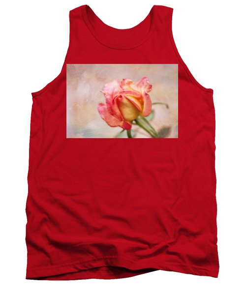 Tank Top featuring the photograph Oil Painted Rose by Joan Bertucci