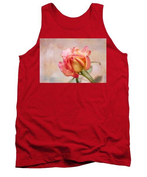 Oil Painted Rose Tank Top by Joan Bertucci
