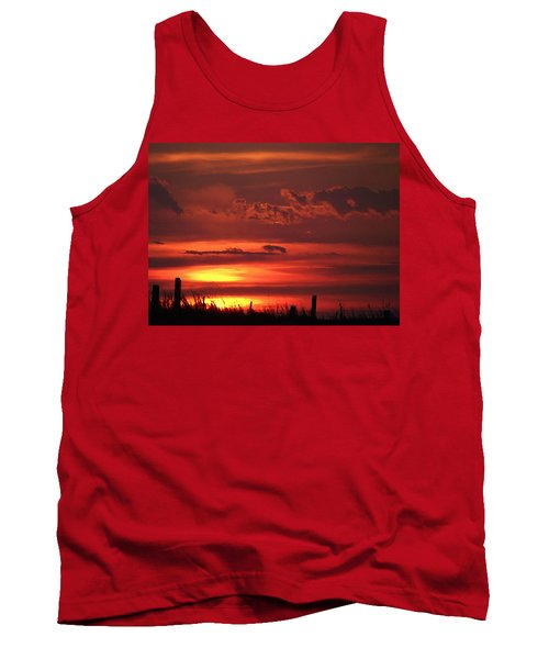 Tank Top featuring the digital art Oklahoma Sky At Daybreak  by Shelli Fitzpatrick