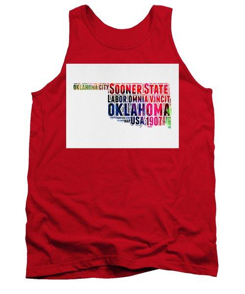 Oklahoma Watercolor Word Cloud  Tank Top