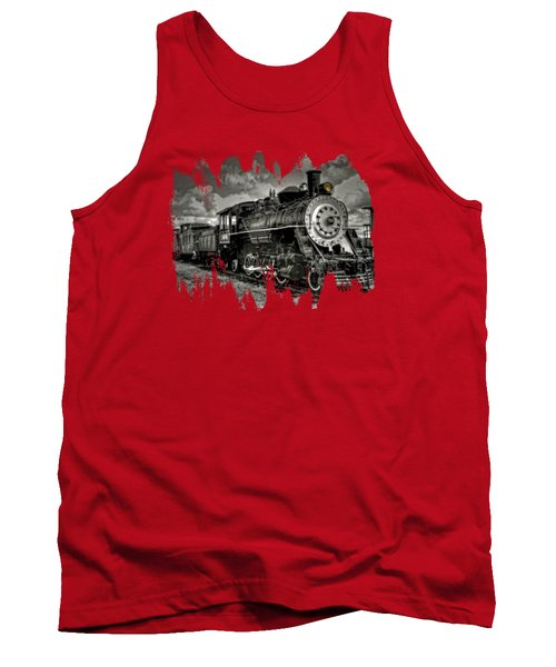 Old 104 Steam Engine Locomotive Tank Top by Thom Zehrfeld