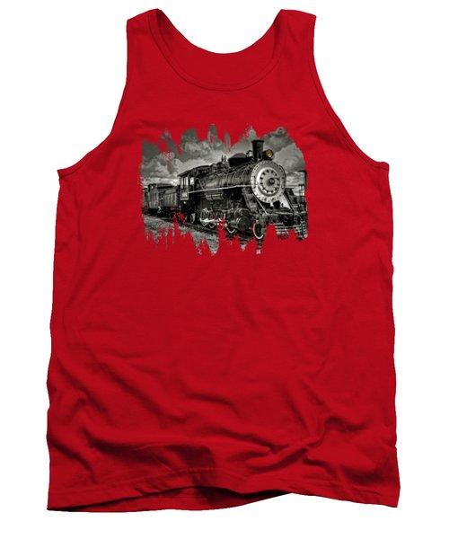 Old 104 Steam Engine Locomotive Tank Top