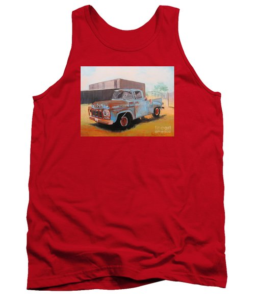 Old Blue Ford Truck Tank Top