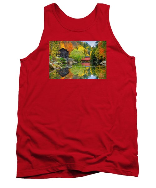 Old Mill In The Fall  Tank Top by Emmanuel Panagiotakis