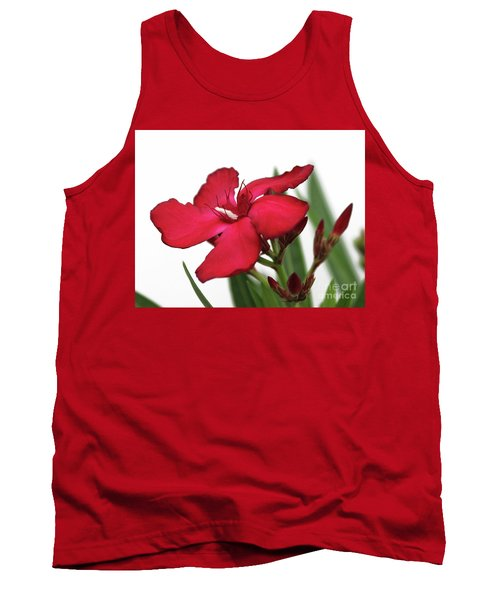Tank Top featuring the photograph Oleander Blood-red Velvet 2 by Wilhelm Hufnagl
