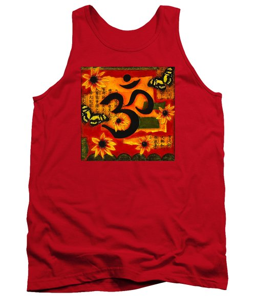 Tank Top featuring the mixed media Om by Gloria Rothrock