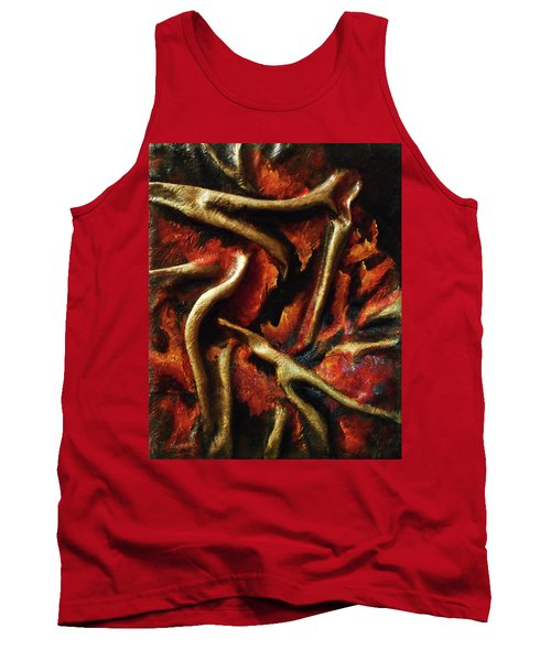 On Fire Tank Top by Angela Stout