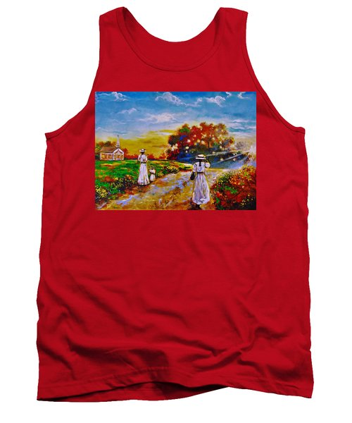 Tank Top featuring the painting On My Way Home by Emery Franklin