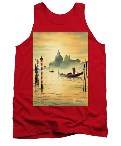 Tank Top featuring the painting On The Grand Canal Venice Italy by Bill Holkham