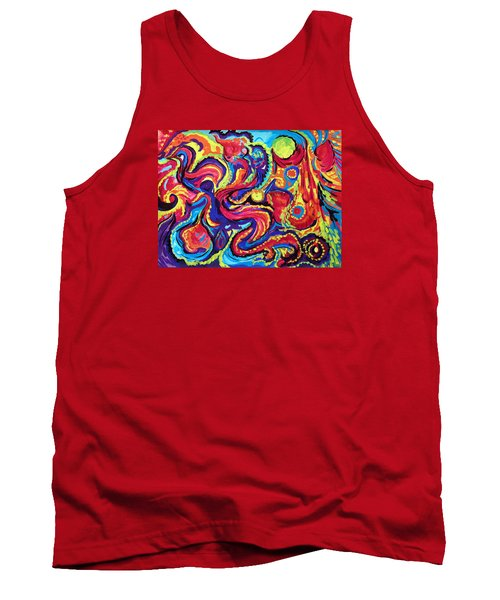 Tank Top featuring the painting Birth by Marina Petro