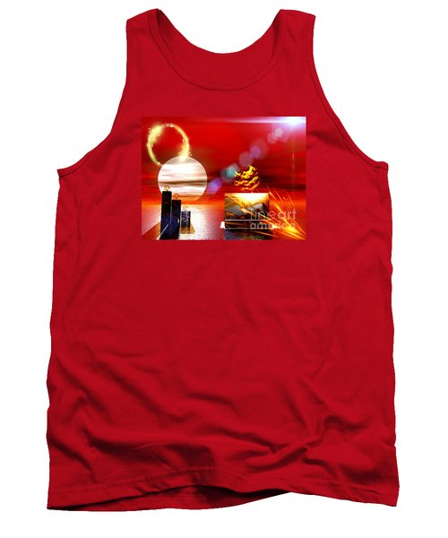 Tank Top featuring the digital art One Step Beyound by Jacqueline Lloyd