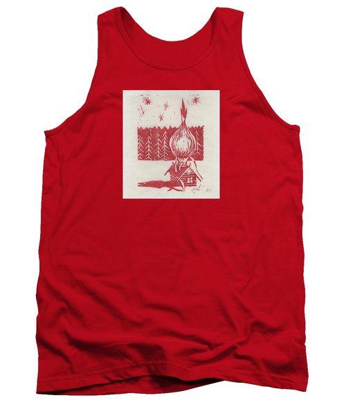 Tank Top featuring the mixed media Onion Dome by Alla Parsons