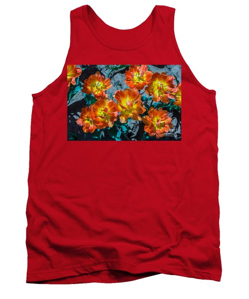 Orange And Yellow Tulips Tank Top by John Roberts