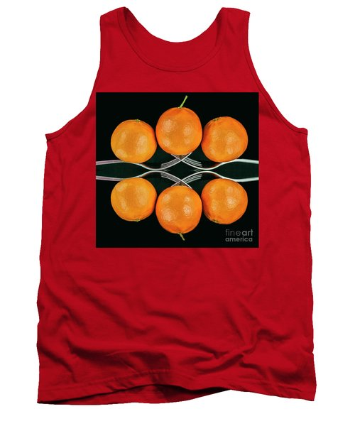Orange Balance Tank Top by Shirley Mangini