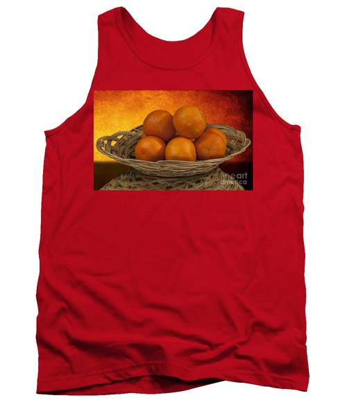 Orange Basket Tank Top by Shirley Mangini