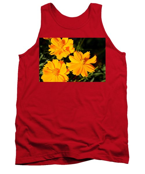 Tank Top featuring the photograph Cosmos Trio by Sheila Brown