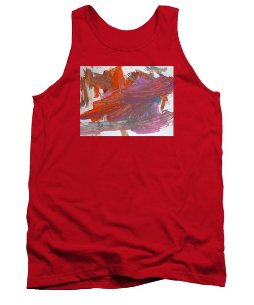 Tank Top featuring the painting Orange By Emma by Fred Wilson