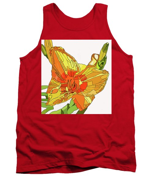 Orange Canna Lily Tank Top by Jamie Downs