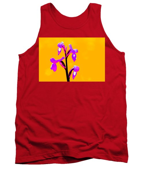 Orange Champagne Orchid Tank Top by Richard Patmore