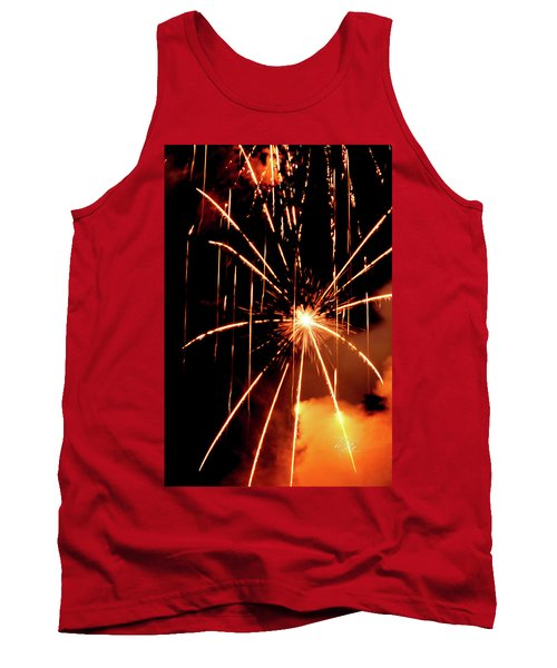 Tank Top featuring the photograph Orange Chetola Fireworks by Meta Gatschenberger