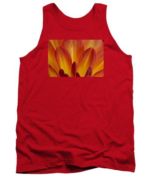 Orange Dahlia Petals Tank Top