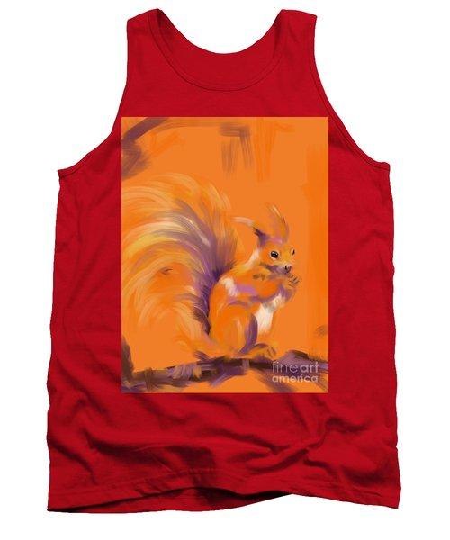 Orange Forest Squirrel Tank Top