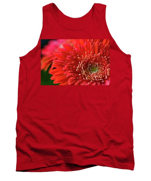 Tank Top featuring the photograph Orange Gerbera by Clare Bambers