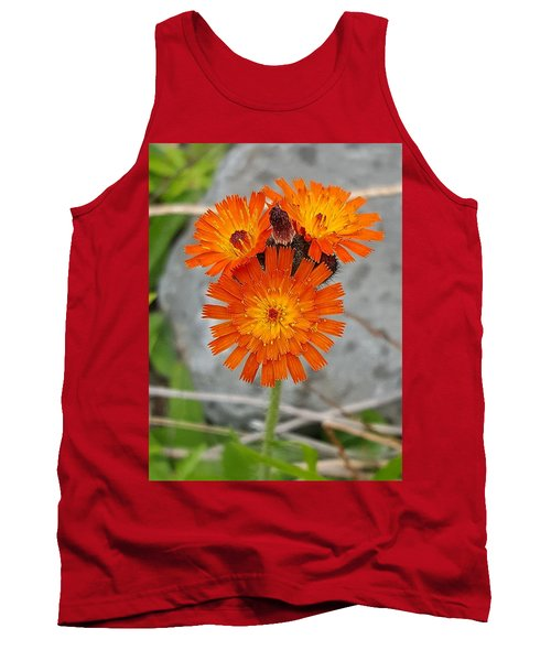 Orange Hawkweed Tank Top