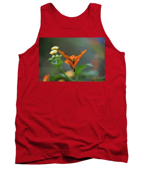 Orange Is The New Butterfly Tank Top