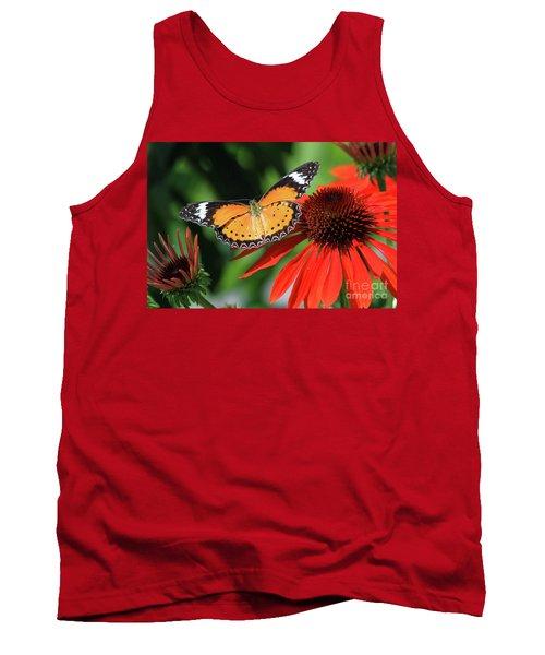 Orange Lacewing Tank Top