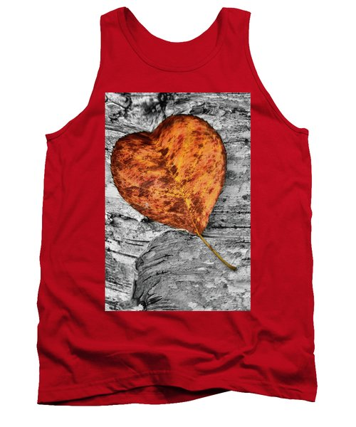 Orange Leaf Tank Top