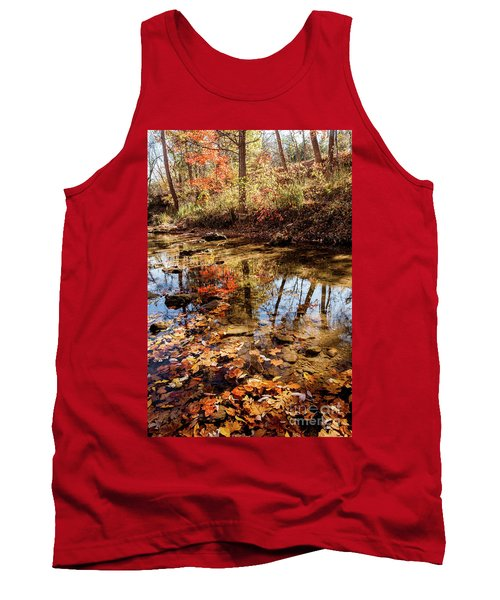 Tank Top featuring the photograph Orange Leaves by Iris Greenwell