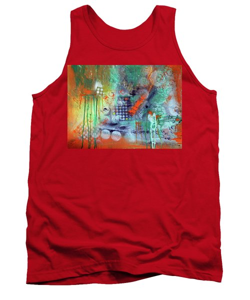 Tank Top featuring the painting Orange Optimist by Everette McMahan jr