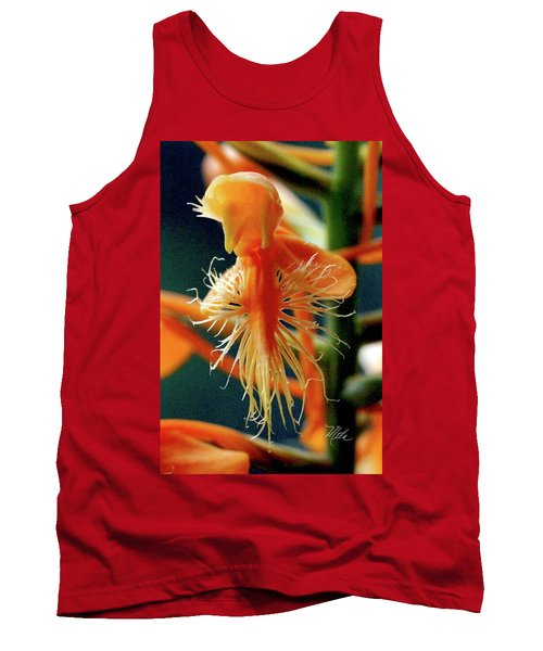 Fringed Orange Orchid Tank Top