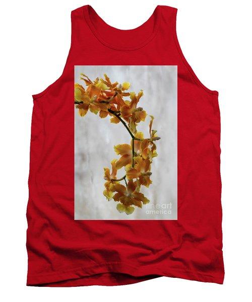 Orange Orchids Tank Top by Darleen Stry
