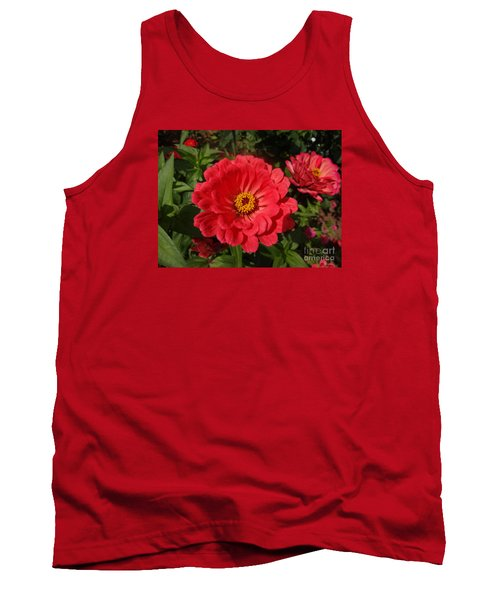 Tank Top featuring the photograph Orange Red Zinnia by Rod Ismay