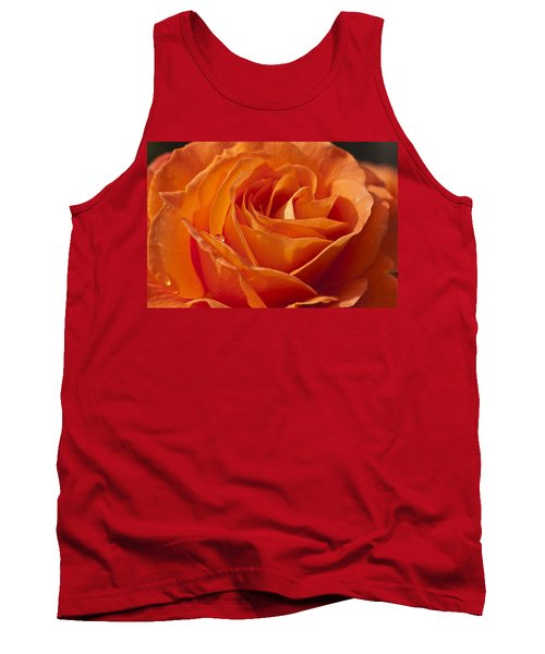 Orange Rose 2 Tank Top by Steve Purnell
