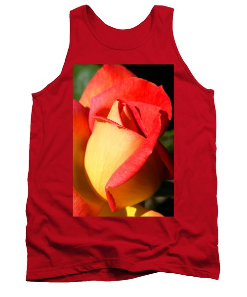 Orange Rosebud Tank Top