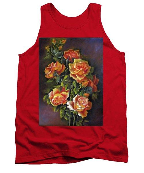 Orange Roses Tank Top by Katia Aho
