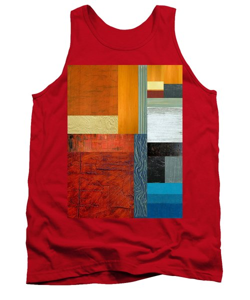 Tank Top featuring the painting Orange Study With Compliments 1.0 by Michelle Calkins