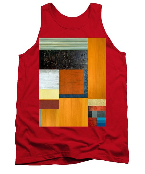 Tank Top featuring the painting Orange Study With Compliments 2.0 by Michelle Calkins