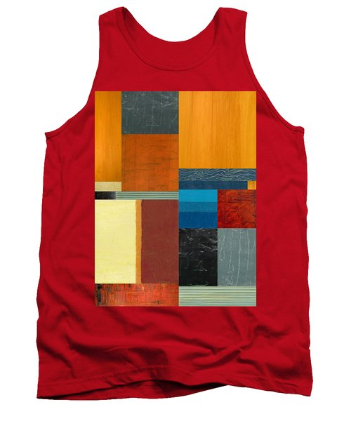 Tank Top featuring the painting Orange Study With Compliments 3.0 by Michelle Calkins