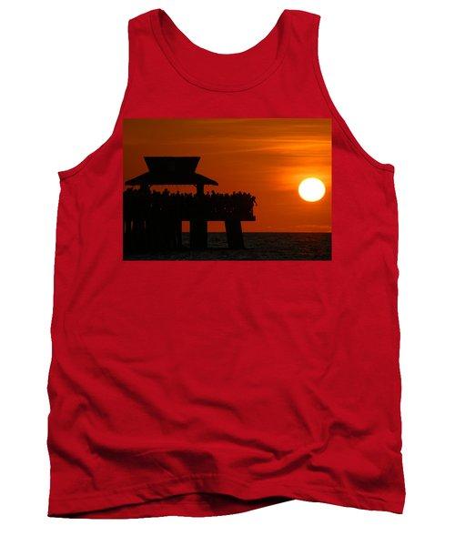 Orange Sunset In Naples Tank Top
